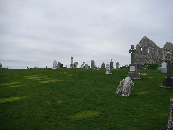 Eerie morning at Clonmacnoise monestary