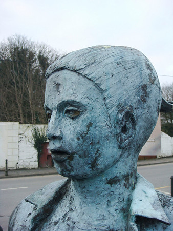Bust of one of the dancers
