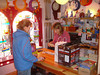 Buying a penny whistle at Custy's in Ennis