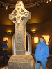 A cross in the museum at Clonmacnoise monestary