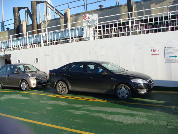 Ferry ride for our trusted car - while we asked for the smallest car available, we got one that was a bit bigger...