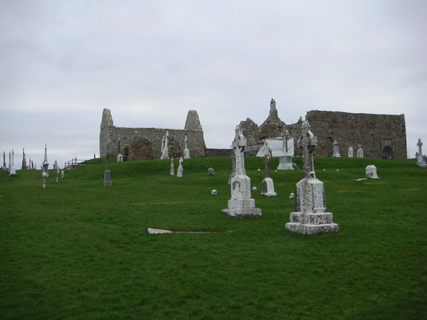 The ghost of buried tombstones at Clonmacnoise monestary