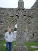 One of the crosses at Clonmacnoise monestary