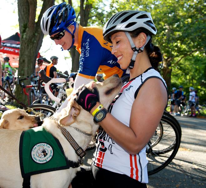 The Seeing Eye puppies at the NJ Gran Fondo 2014