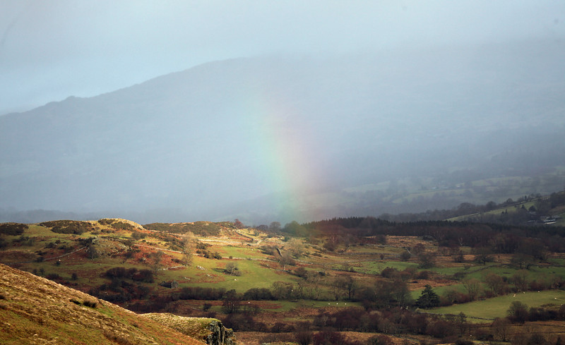 View towards Dolgellau from Cadair Idris
