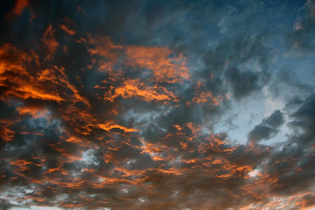 Sunset over Avimore, Scotland