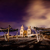 San Xavier del Bac Night with Wood Stalls