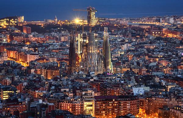 Evening in Barcelona