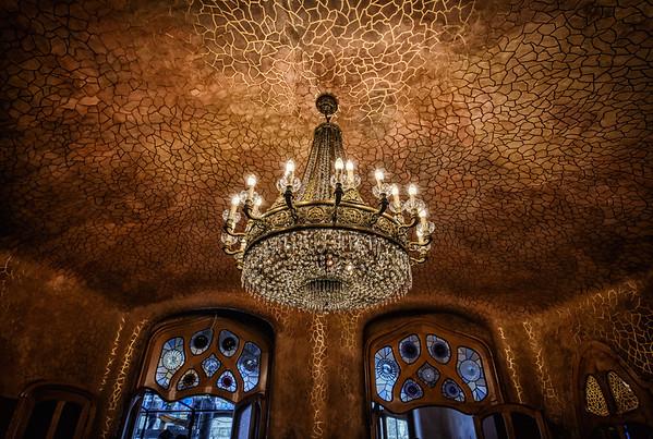A Gaudí Chandelier