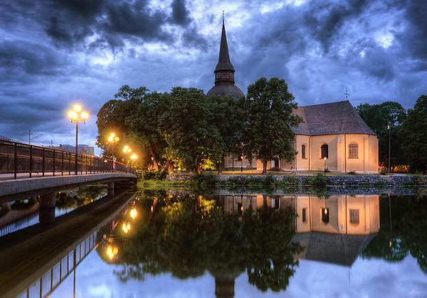 Cloudy Evening Church