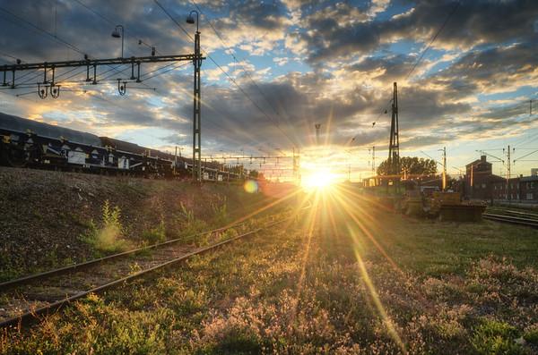 A Railroad Sunset