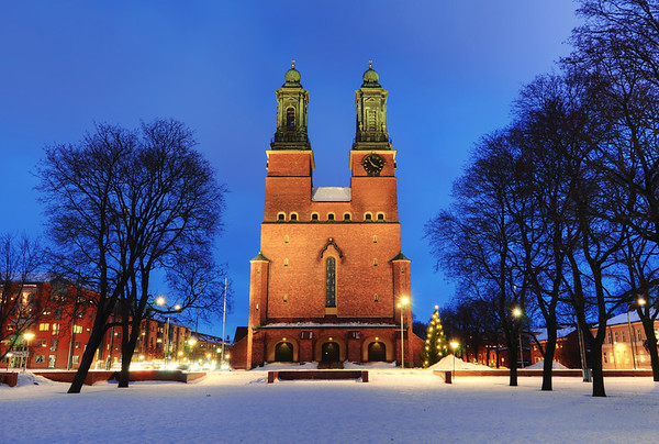 Winter Church Dusk
