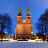 Winter Church Dusk