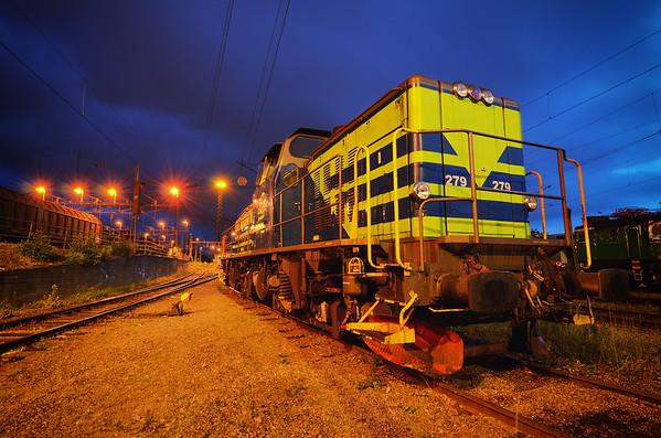 Green Locomotive Storm