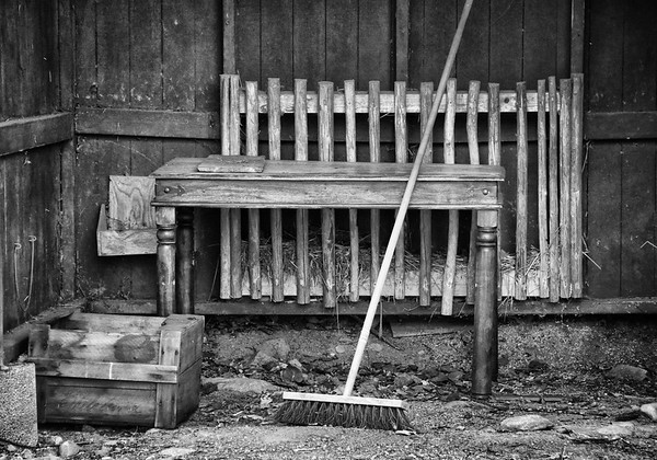Table and Broom