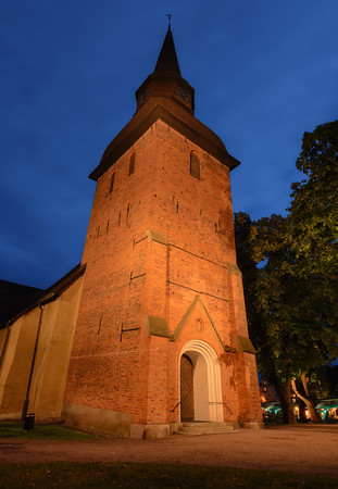 A Church at Dusk