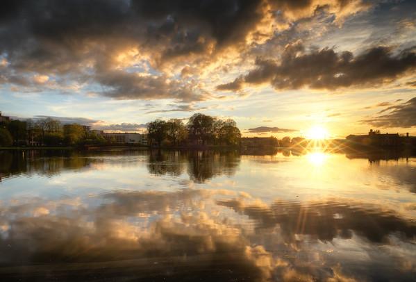 Lake of Fiery Clouds II