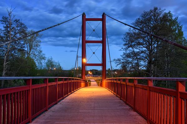 Red Bridge at Dusk