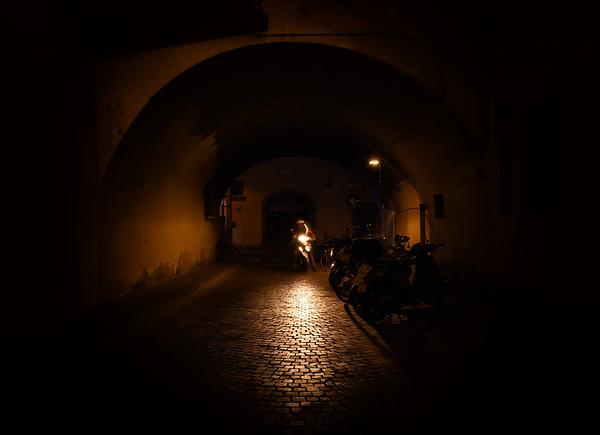 Biker in the Dark