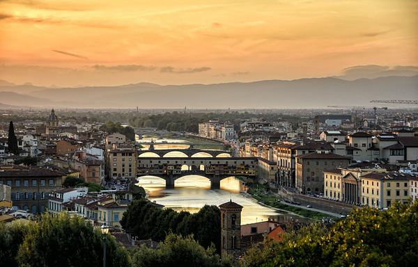 Arno River Sunset
