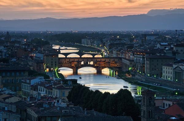 Arno River Dusk