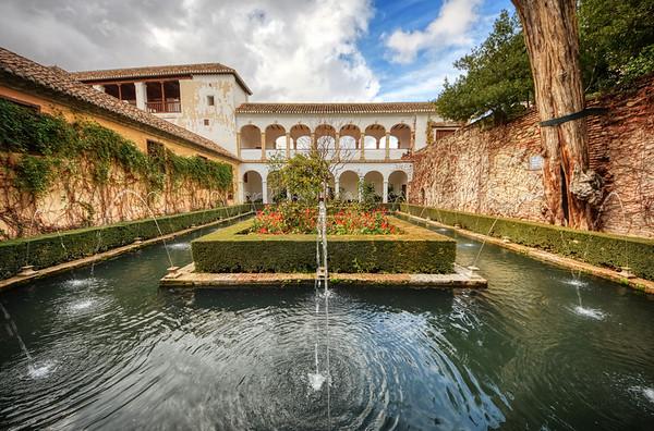 Vivid Alhambra Fountain