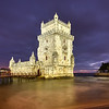 Nightfall of Belém Tower