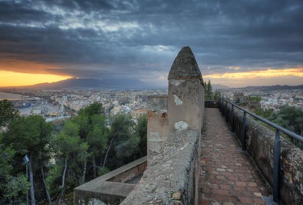 Wall of Castle Gibralfaro