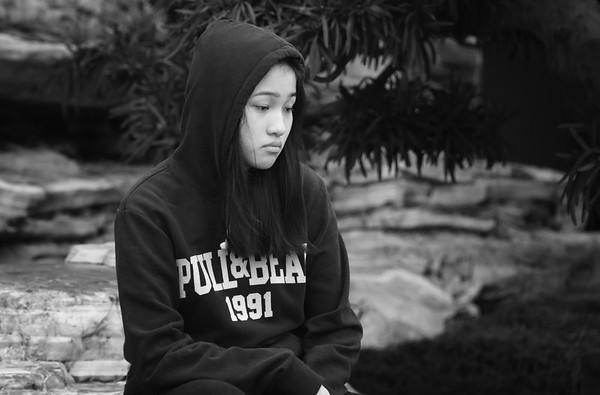Sad Hoodie Girl