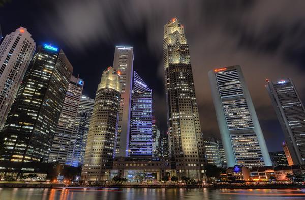 Singapore Skyline Night