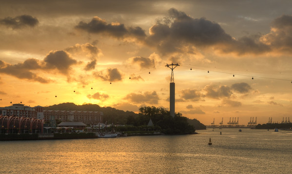 Golden Sentosa Sunset