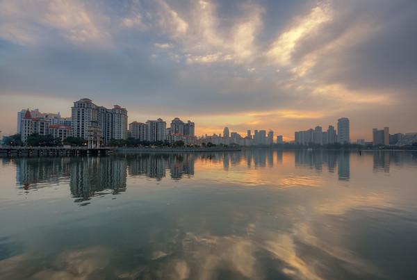 Sunset at Pebble Bay