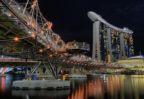 Helix Bridge Night
