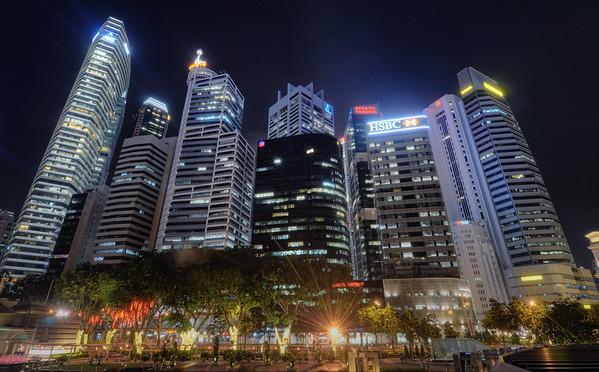 Downtown Skyline Night