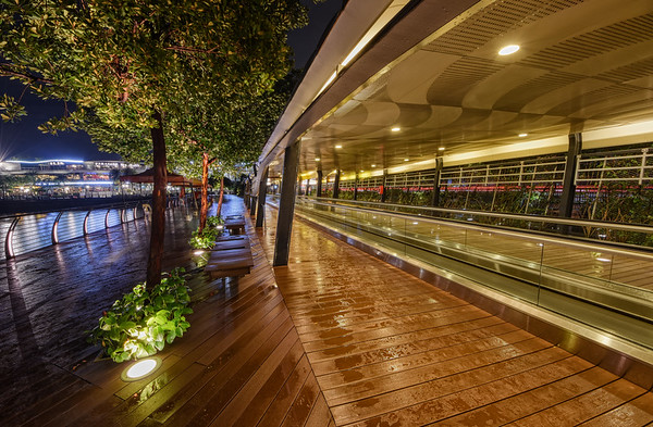 Rainy Boardwalk Night