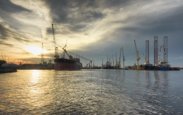 A Shipyard Sunset