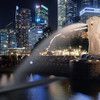 Merlion Park Night