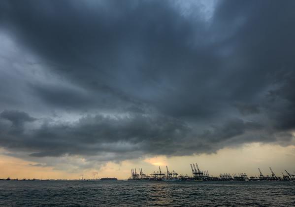 Sunset Harbour Storm