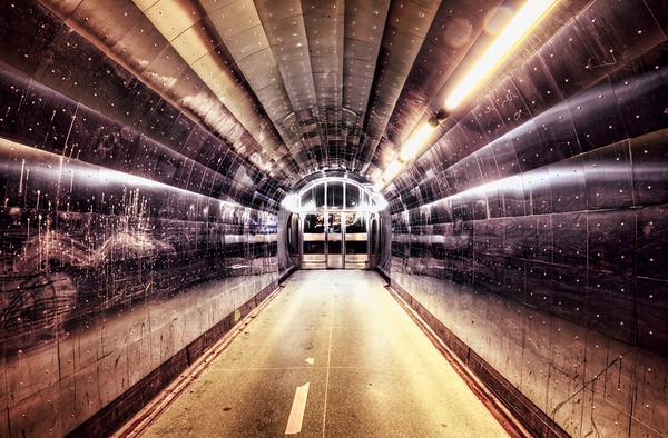 Metal Tunnel Entrance