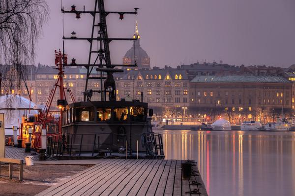 Military Ship Night