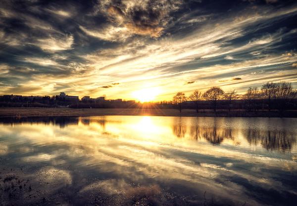 Årsta Pond Sunset