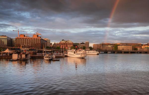 Rainbow Sunset City