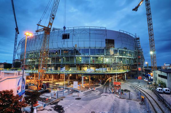 Tele2 Arena in Progress