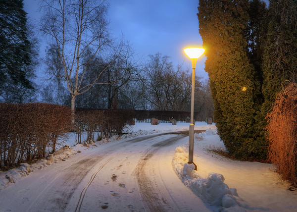 A Snowy Bend