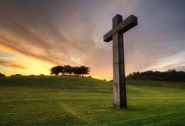 Woodland Cross Sunset