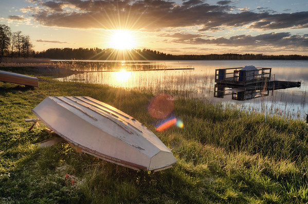 Spring Sunset Boats