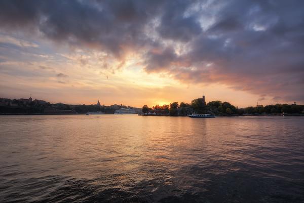 A Ponton Sunset