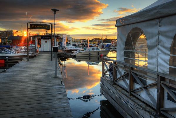 D Bridge Sunset