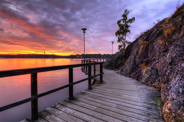 Nacka Boardwalk Sunset