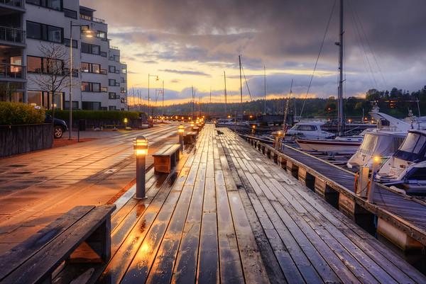 Wet Boardwalk Marina